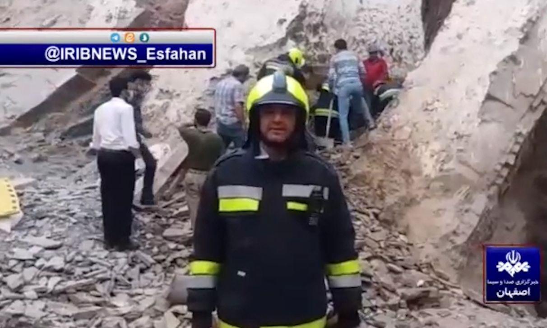 ریزش آورا در اصفهان