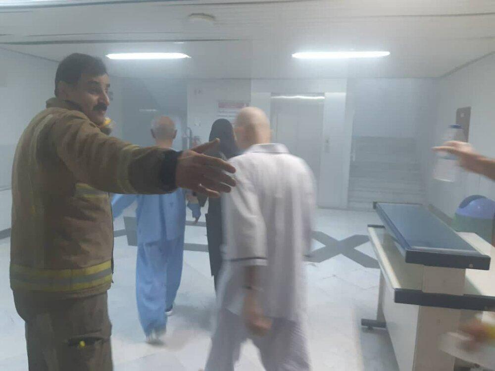 آتش سوزی در بیمارستان خیابان سخایی +عکس