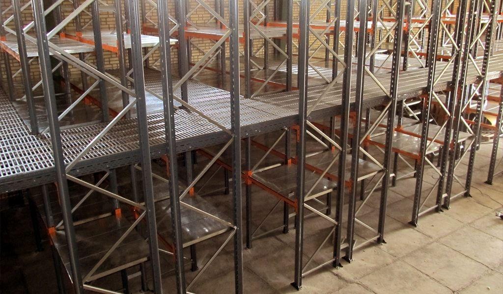 انواع قفسه بندی انبار ساخت شرکت بهین انبار آرا