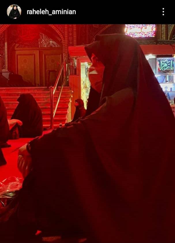 مجری زن مشهور تلویزیون با پروتکل بهداشتی در شب عاشورا +عکس