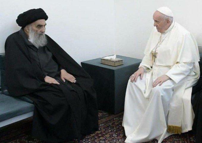 آیتالله سیستانی و پاپ فرانسیس