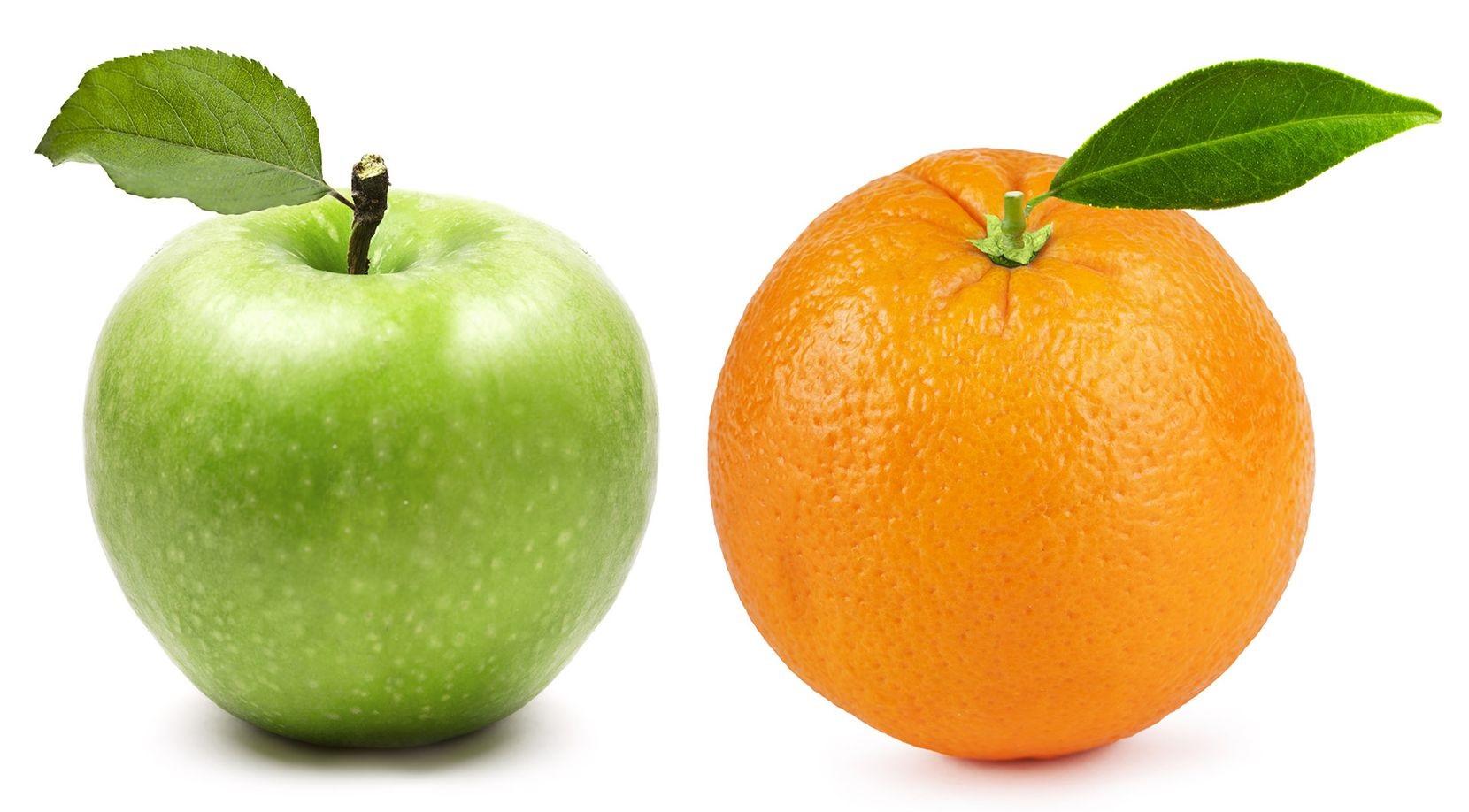 سیب و پرتقال