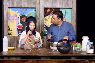 آشپزی نیتروژنی خانم بازیگر در یک برنامه