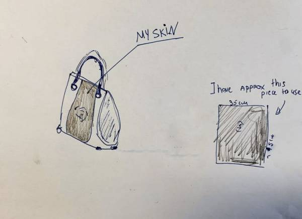 درخواست عجیب یک زن برای ساخت کیف ازپوست بدنش! +عکس