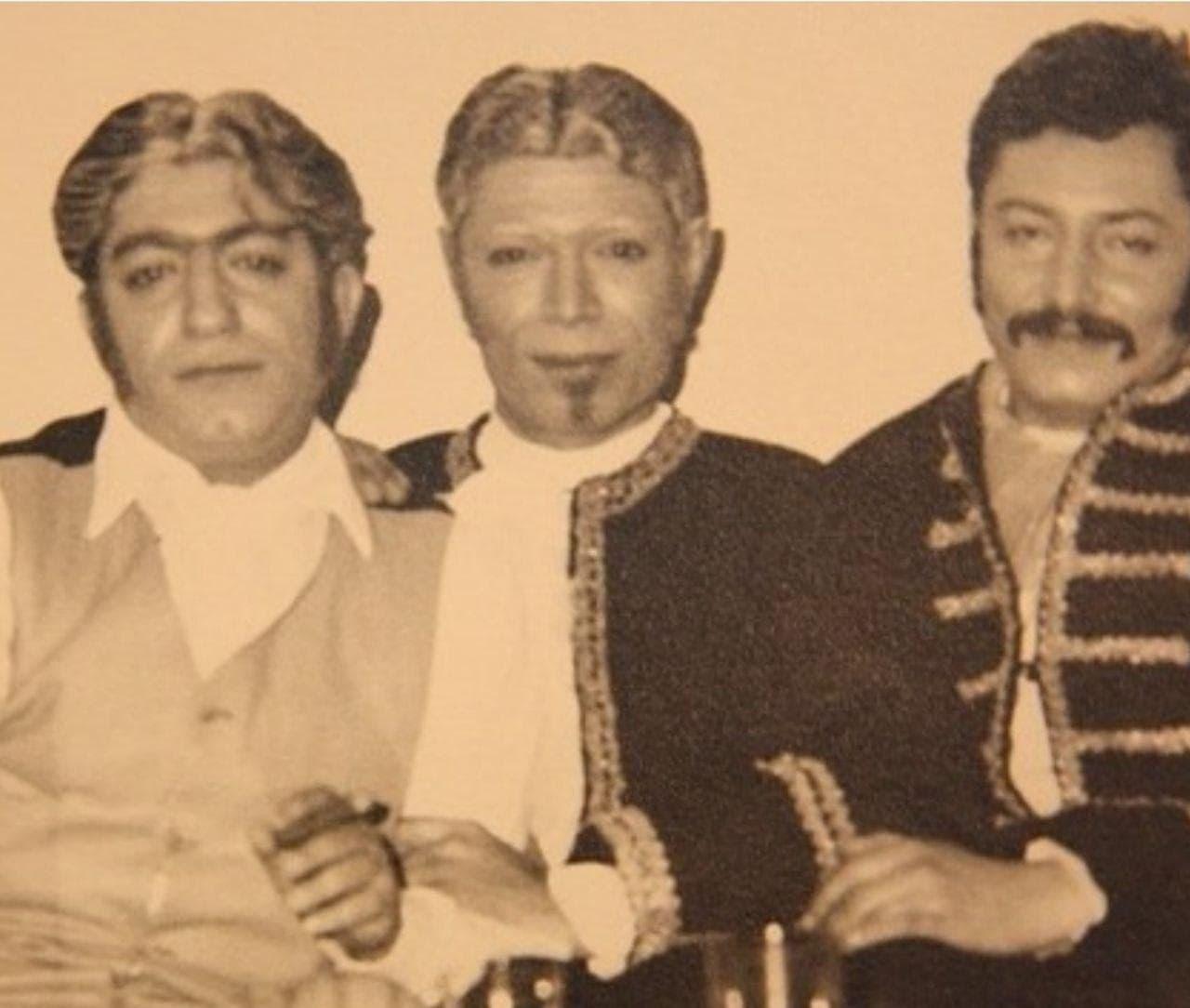 جمشید مشایخی، علی نصیریان و عزت الله انتظامی