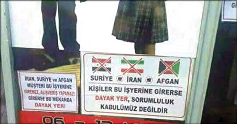 بنر جنجالی در ترکیه: ورود ایرانی ممنوع!
