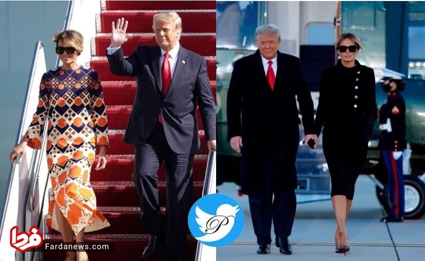 کت دامن رسمی ملانیا ترامپ به لباس 3700 دلاری نارنجی تبدیل شد