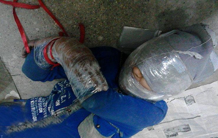 پسر بچه گمشده دست پا بسته در چمدان پیدا شد +تصاویر