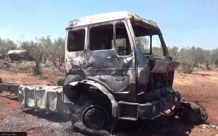 نابودکردن تانکرهای نفت داعش توسط هواپیماهای روسیه