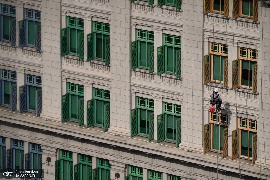 تمیز کردن نمای ساختمان در سنگاپور