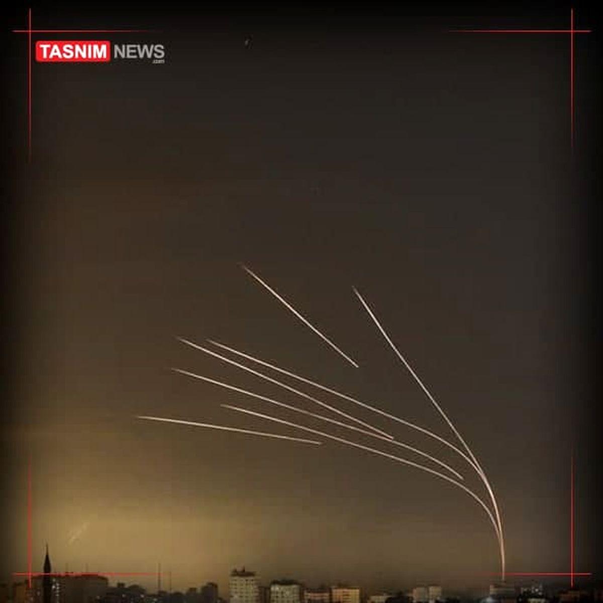 آثار حملات موشکی مقاومت به شهر عسقلان  +فیلم
