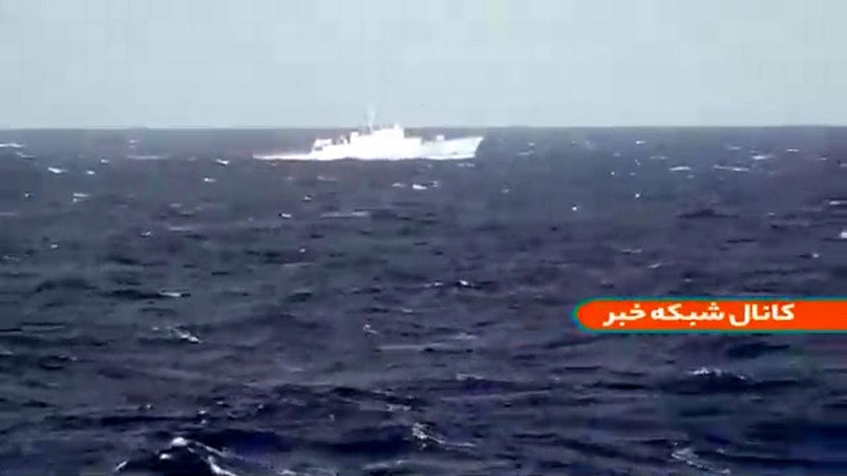 فیلم: اولین حضور ناوشکن سهند در اقیانوس اطلس