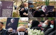 تیپ عجیب یک مرد در مراسم تشییع پیکر ملکه رنجبر +عکس
