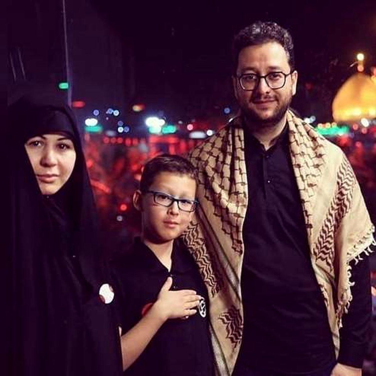 عکسی متفاوت از همسر و پسر سید بشیر حسینی