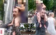لحظه ربودن دختر خردسال در پارک بازی! +فیلم