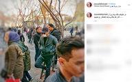 سیاوش خیرابی با چهره مبدل در بازار تهران +عکس
