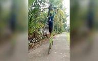 فیلم: دوچرخهسواری مرد هندی با دوچرخهای عجیب!