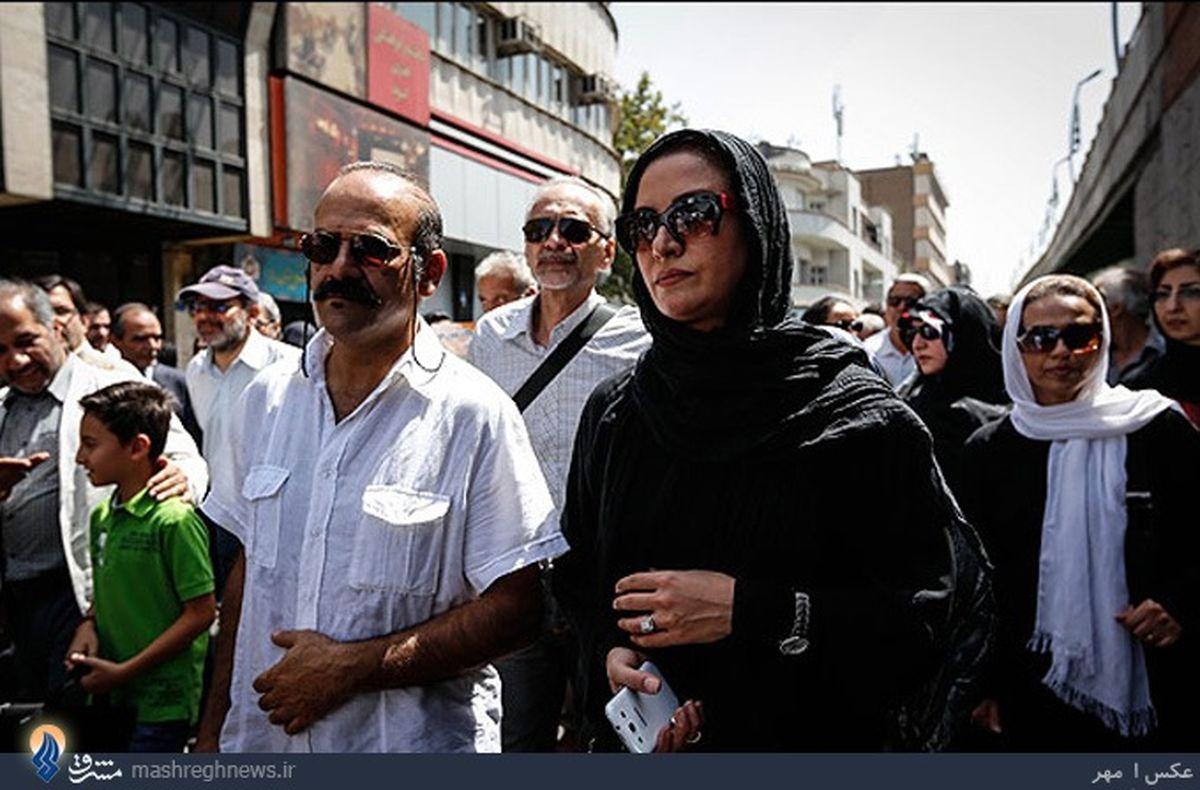 عکس/مریلا زارعی در راهپیمایی روز قدس
