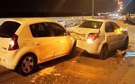 تصاویر: تصادف زنجیرهای در اتوبان قم-تهران