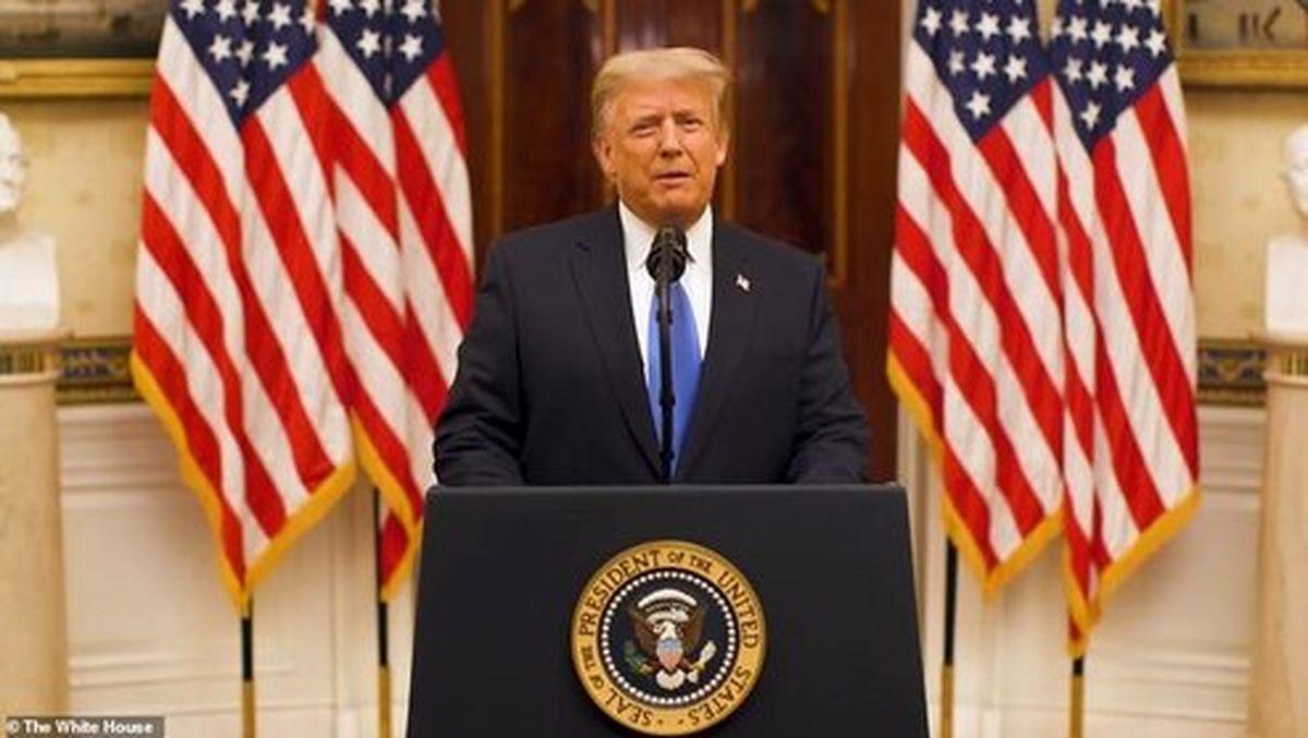 ادعاهای ترامپ در پیام خداحافظی پیش از ترک کاخ سفید