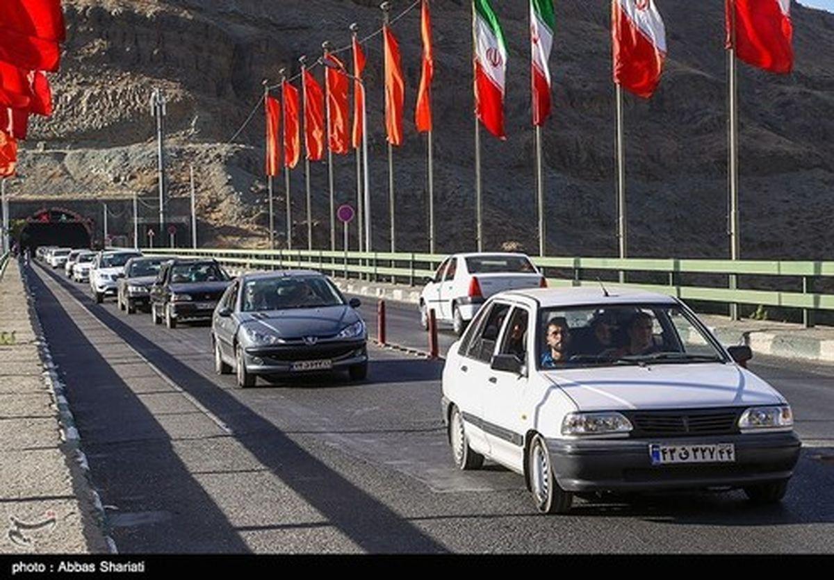 وضعیت جوی و ترافیکی جاده ها/چالوس مسدود شد