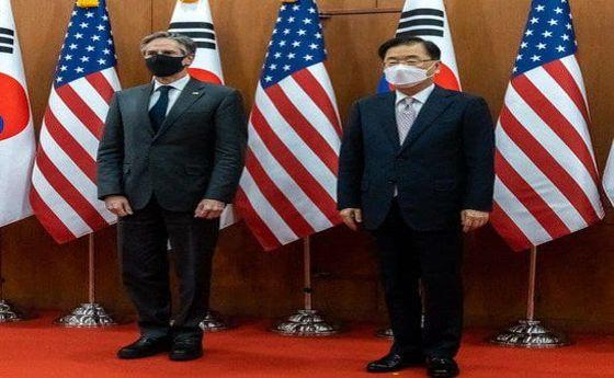دیدار بلینکن با وزیر خارجه کرهجنوبی