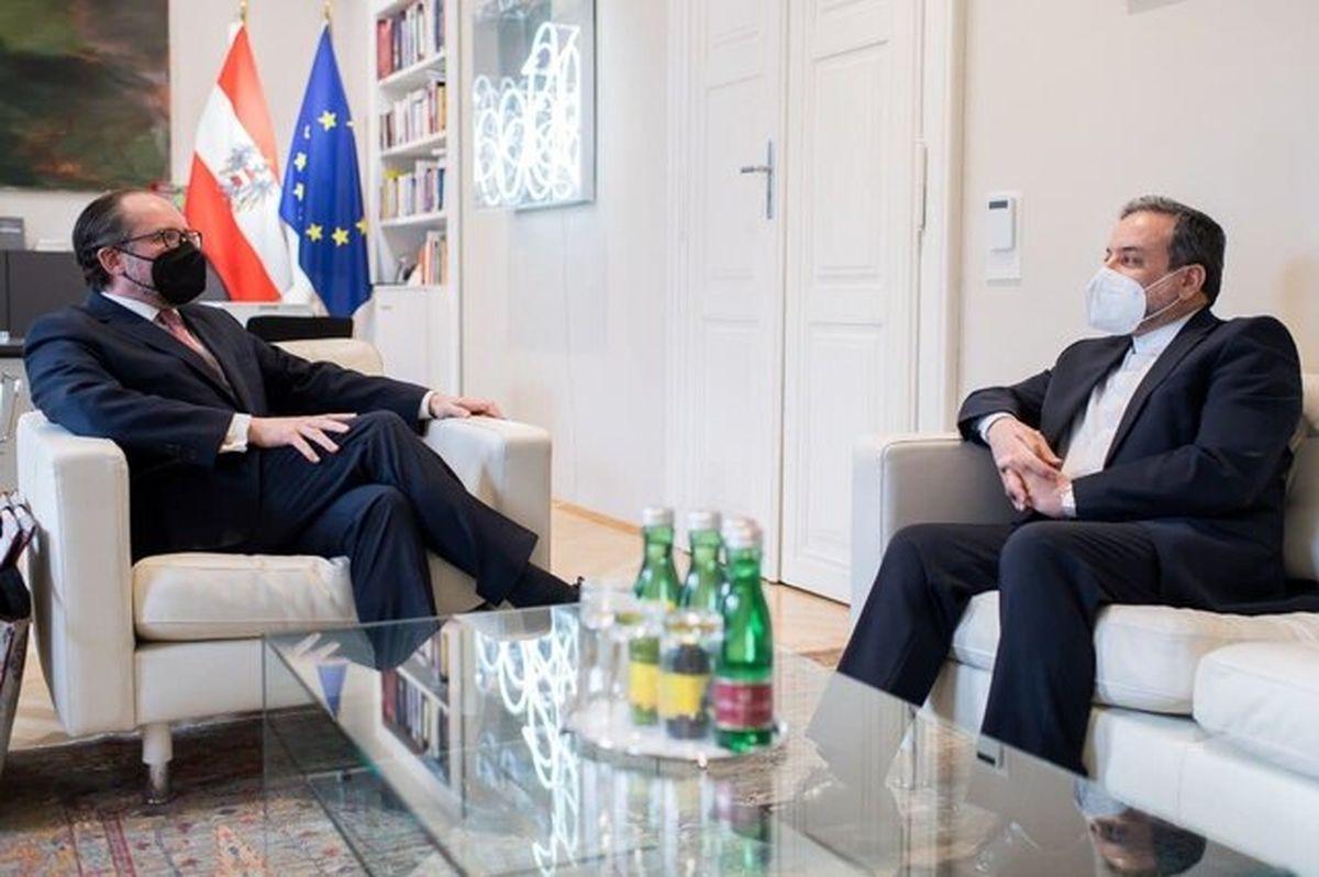 دیدار عراقچی با وزیر امور خارجه اتریش +عکس