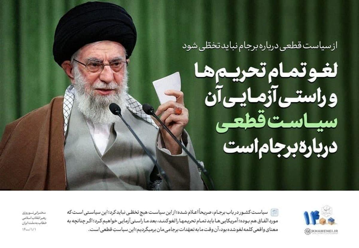 رهبر انقلاب: از سیاست قطعی درباره  برجام نباید تخطی کرد