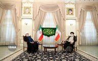 تصویری از حضور روحانی در دفتر رییسی پس از پیروزی
