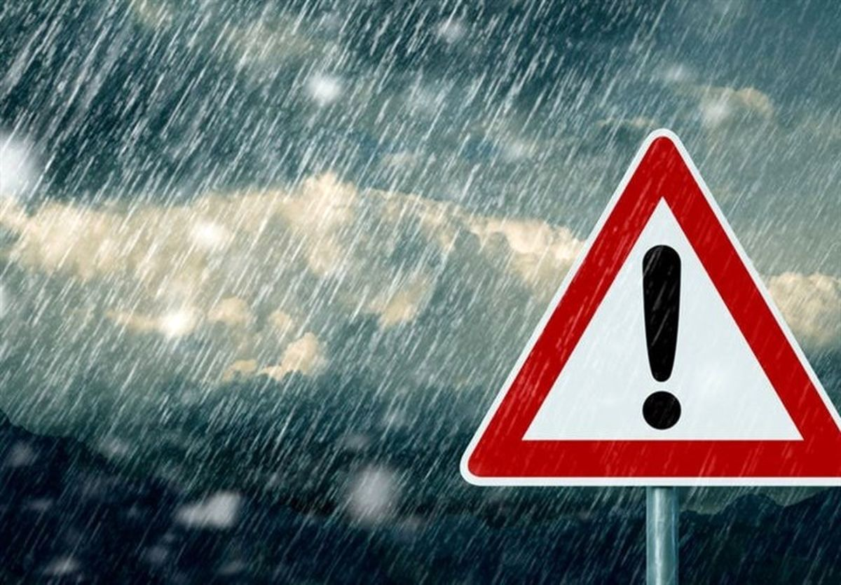 پیشبینی بارش باران برای ۲۱ استان