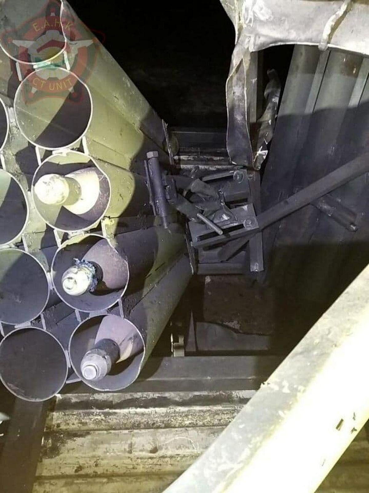 عکس: کشف خودروی حامل موشکانداز در حمله به فرودگاه اربیل