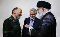 تصویر منتشر نشده از گفتگوی رهبر انقلاب، حاج قاسم و سردار حجازی