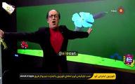 حرکات غیرمتعارف بهمن هاشمی بر روی آنتن زنده +فیلم