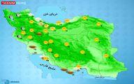 بارش پراکنده باران دراستان های شمالی +نقشه
