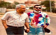 لباس عجیب شعبان نژاد در کنار مهران مدیری +عکس