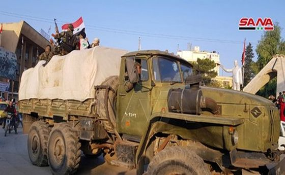 ورود نیروهای تازهنفس ارتش سوریه به دو ریف الرقه و الحسکه +تصاویر