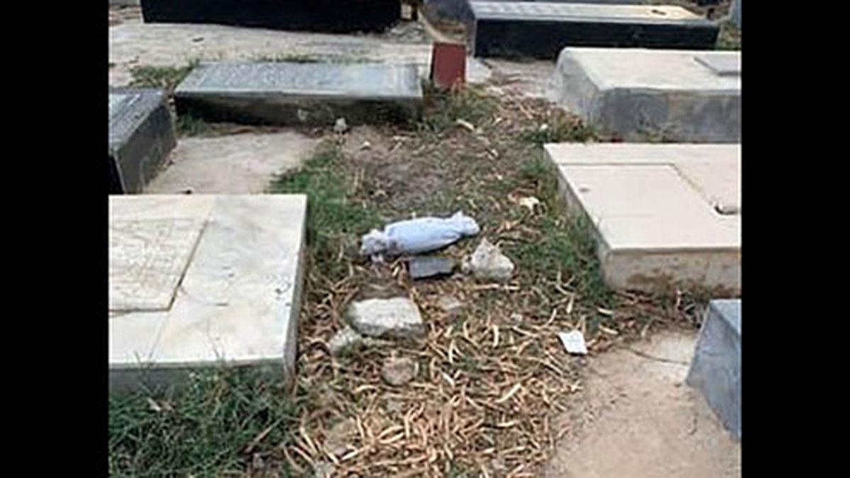 جنازه نوزاد کفن شده در قبرستان پیدا شد +عکس