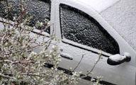 تصاویر: بارش برف بهاری در ابهر