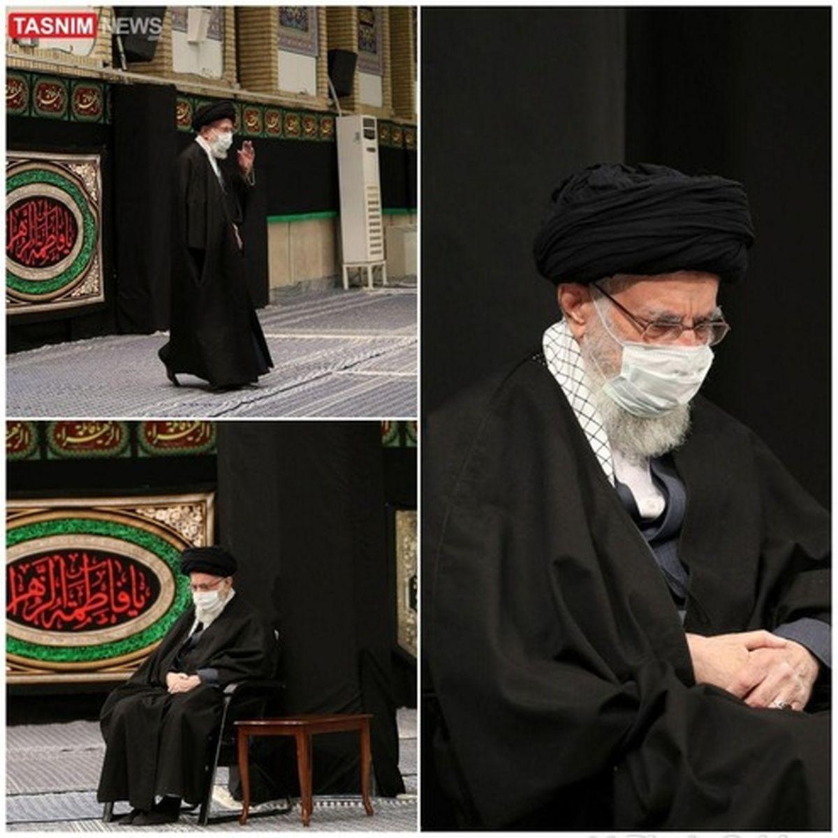 تصاویری از آخرین شب عزاداری فاطمیه در بیت رهبری