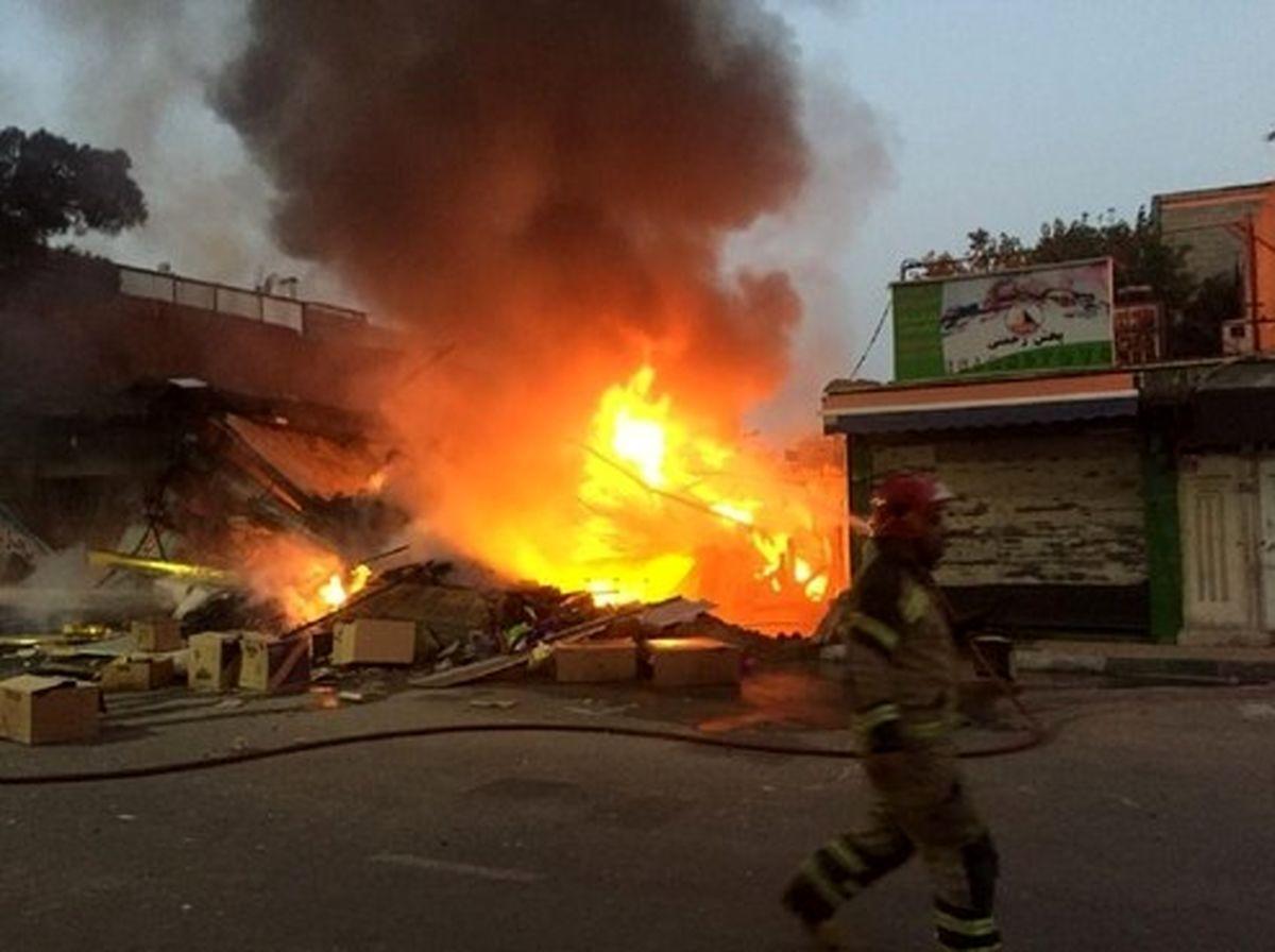 آوار شدن یک ساختمان ۲ طبقه در جنوب تهران +تصاویر