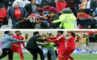 عکس: لحظه حمله تماشاگر جیمی جامپ به مسعود شجاعی