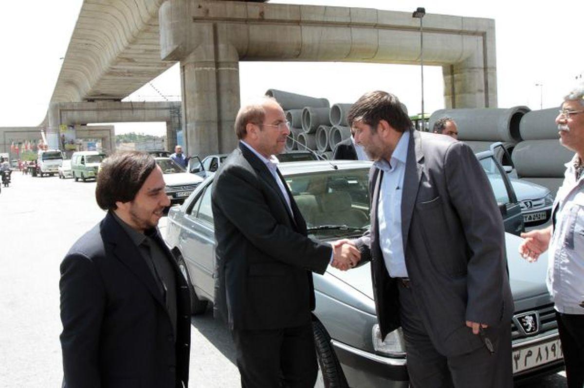 بازدید قالیباف از پروژه پل طبقاتی صدر