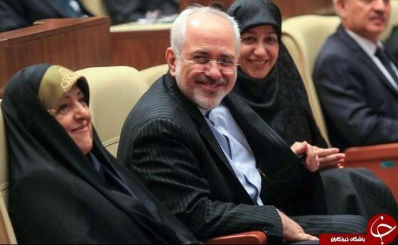 ظریف و همسرش مهمان معصومه ابتکار + عکس
