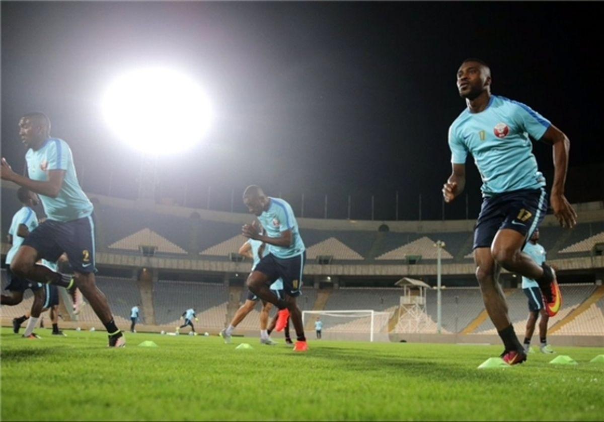 اولین تمرینات قطریها در ورزشگاه آزادی +عکس