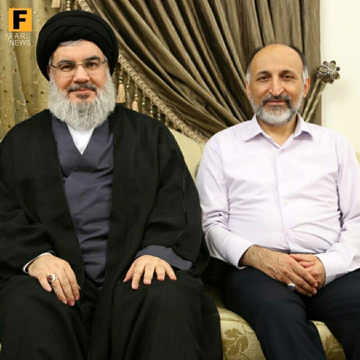 تصویر منتشرنشده از سردار حجازی در کنار سیدحسن نصرالله
