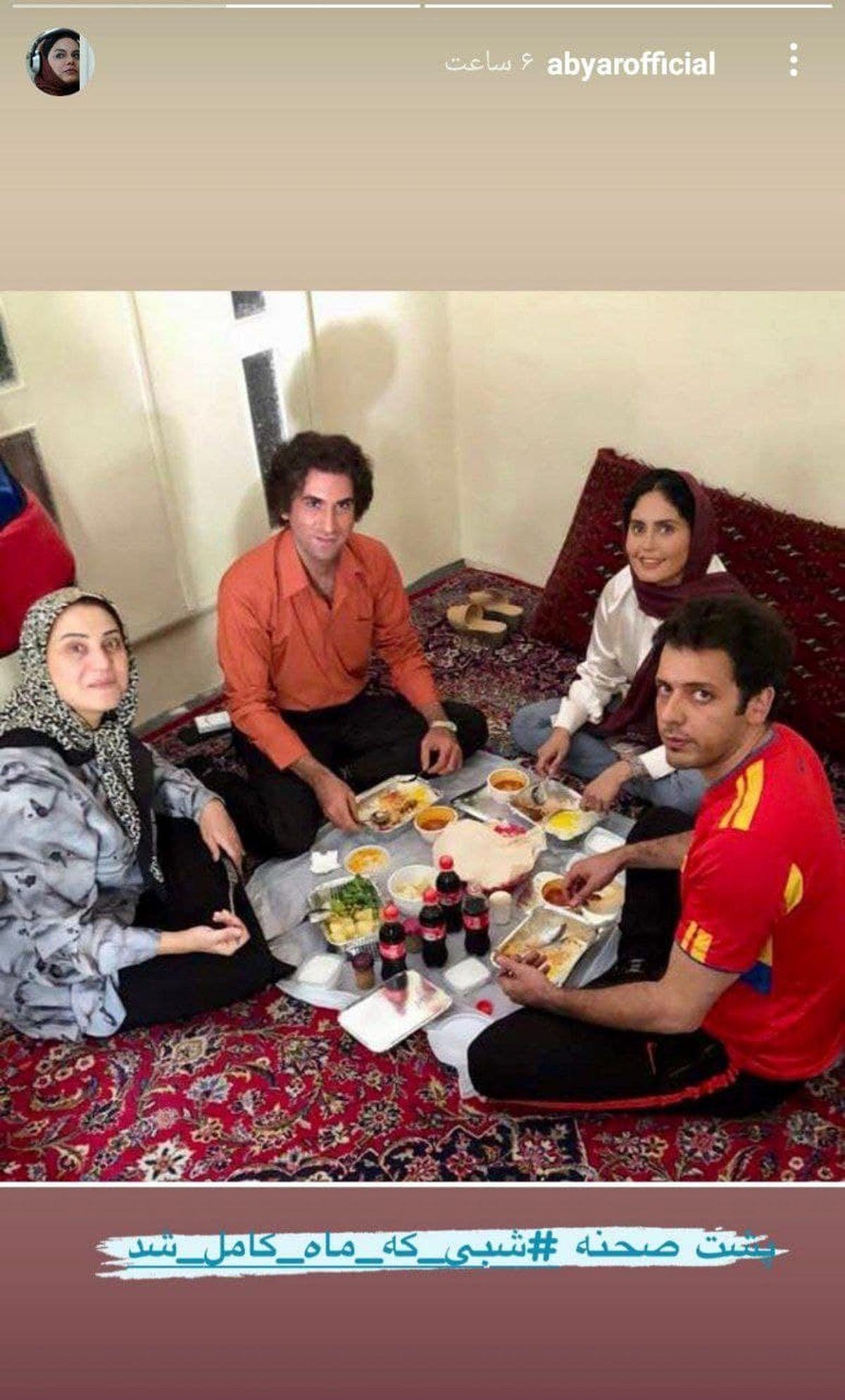 تیپ عجیب پدرام شریفی سر سفره +عکس