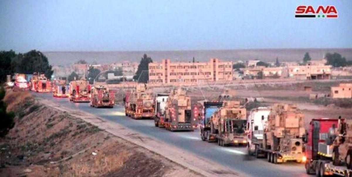 ورود ۵۲ کامیون نظامی آمریکایی به خاک سوریه