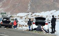 تصاویر: بارش برف پاییزی در مناطق کوهستانی شیرکوه یزد