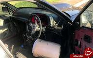 رانندهای که روی تشک رانندگی میکرد +عکس