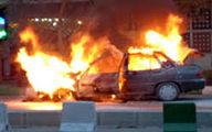 شهروندی در اعتراض به جریمه پلیس، پرایدش را به آتش کشید!